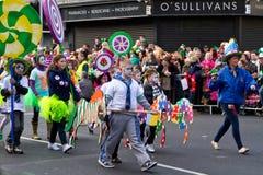 Parata di giorno della st Patrick in Limerick Immagini Stock Libere da Diritti