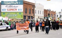 Parata di giorno della st Patricks di Detroit Immagine Stock