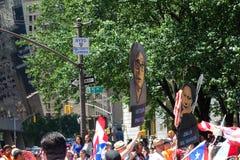 Parata di giorno di 2014 portoricani Fotografia Stock