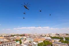 Parata di giorno di vittoria di Mosca Fotografia Stock Libera da Diritti