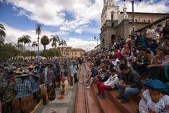 Parata di Inti Raymi in Cotacachi Ecuador Fotografia Stock