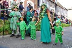 Parata di Jack In The Green, Hastings Immagine Stock Libera da Diritti