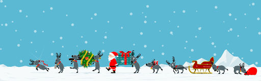 Parata di Natale Fotografia Stock