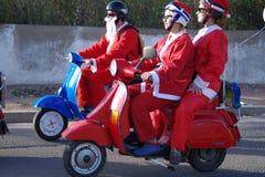 Parata di natale dei motociclisti Immagine Stock