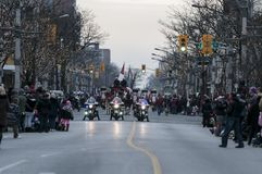 Parata di Natale di Windsor Fotografia Stock