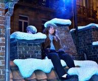 Parata di Natale RTL a Bruxelles, Belgio fotografia stock