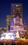 Parata di notte di San Silvestro a Boston, S.U.A. Fotografia Stock Libera da Diritti