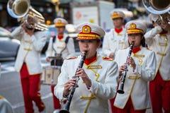 Parata di novembre sulla via di Gion a Kyoto Fotografia Stock