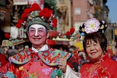 Parata di nuovo anno del Chinatown Fotografia Stock Libera da Diritti