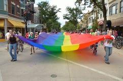 Parata di orgoglio a Madison, Wisconsin Fotografia Stock
