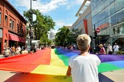 Parata di orgoglio a Madison, Wisconsin Fotografia Stock Libera da Diritti