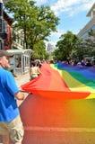 Parata di orgoglio a Madison, Wisconsin Immagini Stock Libere da Diritti