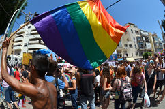 Parata di orgoglio a Tel Aviv Immagine Stock Libera da Diritti