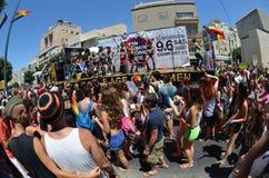 Parata di orgoglio a Tel Aviv Fotografie Stock