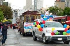 Parata di Pasqua a San Francisco, via del sindacato Fotografie Stock Libere da Diritti
