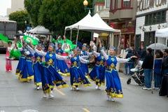 Parata di Pasqua a San Francisco, via del sindacato Fotografia Stock