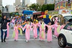 Parata di Pasqua a San Francisco, via del sindacato Immagine Stock Libera da Diritti