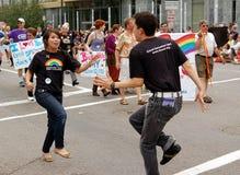 Parata gaia di orgoglio delle città gemellare Fotografie Stock