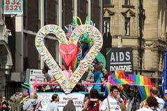 Parata gaia di orgoglio a Manchester, Regno Unito 2010 Fotografia Stock Libera da Diritti