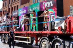 Parata gaia di orgoglio a Manchester, Regno Unito 2011 Fotografia Stock Libera da Diritti