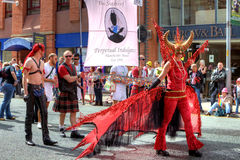 Parata gaia di orgoglio a Manchester, Regno Unito 2011 Fotografia Stock