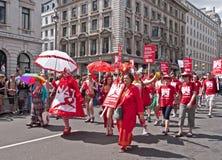 Parata gaia Londra 2010 di orgoglio Fotografia Stock