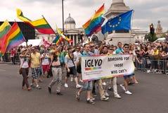 Parata gaia Londra 2011 di orgoglio immagine stock