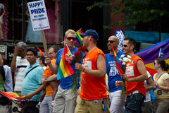 Parata gaia New York City 2011 di orgoglio Immagine Stock Libera da Diritti