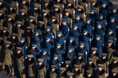 Parata militare che celebra la festa nazionale della Romania fotografia stock