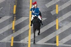 Parata militare che celebra la festa nazionale della Romania fotografie stock libere da diritti