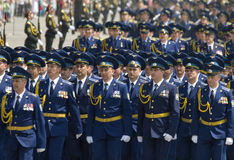 Parata militare del giorno di vittoria Fotografie Stock