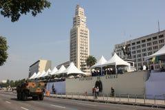 Parata militare della festa dell'indipendenza a Rio, Brasile Fotografie Stock