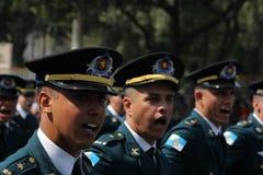 Parata militare della festa dell'indipendenza a Rio, Brasile Fotografia Stock