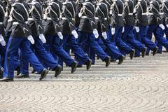 Parata militare durante il ceremonial immagine stock libera da diritti