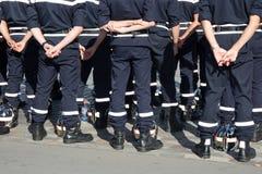 Parata militare durante il ceremonial della festa nazionale francese fotografia stock