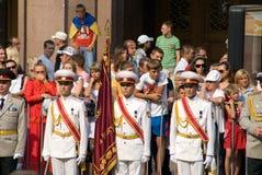 Parata militare a Kiev Immagini Stock