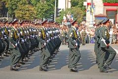 Parata militare a Kiev (Ucraina) Immagini Stock