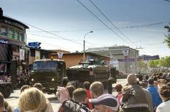 Parata militare per il settantesimo anniversario della vittoria più fas Fotografia Stock