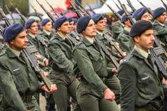 Parata militare per la festa dell'indipendenza della Grecia Fotografie Stock Libere da Diritti