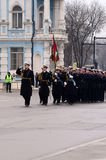 Parata militare a Varna Fotografia Stock