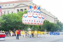 Parata nazionale di festa dell'indipendenza fotografie stock libere da diritti