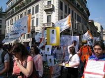 PARATA POLITICA DI GIORNO DI LIBERAZIONE. MILANO, ITALIA Immagine Stock Libera da Diritti