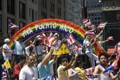 Parata portoricana di giorno; NYC 2012 Fotografie Stock Libere da Diritti