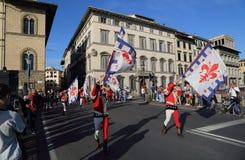 Parata storica a Firenze, Italia Immagine Stock