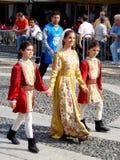 Parata storica in Vigevano Immagine Stock Libera da Diritti