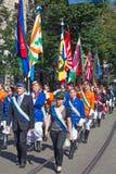 Parata svizzera di festa nazionale a Zurigo Fotografia Stock