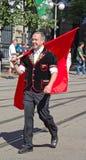 Parata svizzera di festa nazionale a Zurigo Fotografie Stock