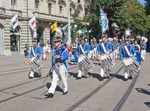 Parata svizzera di festa nazionale a Zurigo Immagini Stock Libere da Diritti