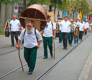 Parata svizzera di giorno nazionale a Zurigo Fotografie Stock