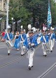Parata svizzera di giorno nazionale a Zurigo Fotografia Stock